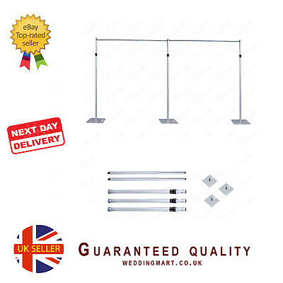 20ftx10ft Telescopic Wedding Backdrop Stand, Pipe and Drape system