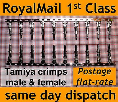 20x crimps for Tamiya Connectors Male & Female large big