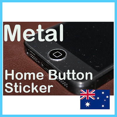 Black Metal Home Button Sticker For Apple iPhone 3GS 4 4S 5 iPad 2 3 4 mini