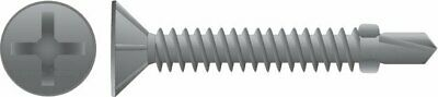 Galvanised Countersunk Winged Self Drilling Screws 10 -  16 x 40mm - 1000pc