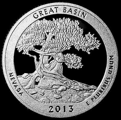 2013 S Great Basin Nevada Silver Mint Proof ~ ATB National Park from Proof Set