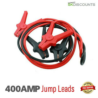 Heavy Duty 400 AMP Recovery Jump Leads Booster Cables For Car Van Batteries