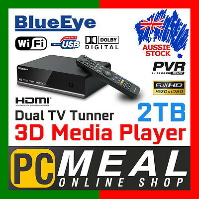 BlueEye V9T3 2TB Full HD 1080P Media Player Recorder 3D Dual DTV Tunner PVR WIFI