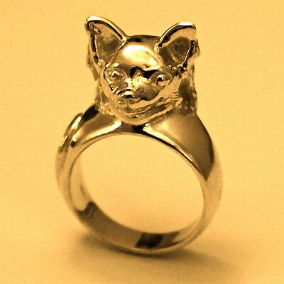 Sigi Animal Sculptures: 14Kt Gold Chihuahua Ring, only at Sigi Jewelry