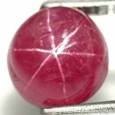 BURMA Star Ruby 4.47 Cts Natural Untreated Intense Pinkish Red Oval