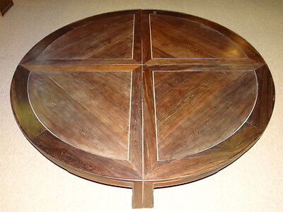 Chinese Large Jichimu 4 sectional round Table