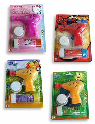 Seifenblasenpistole Hello Kitty - Spiderman - Winnie Puuh - Spongebob [NEU]