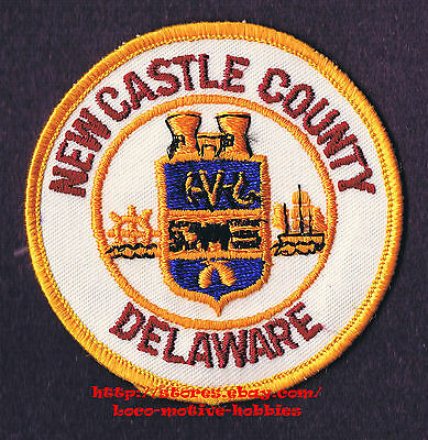 PATCH Seal Herald  NEW CASTLE COUNTY DELAWARE  Wheel & Sailing Ship   Souvenir