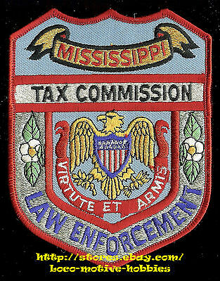 LMH PATCH  Virtute Et Armis  MISSISSIPPI TAX COMMISSION Law Enforcement Shoulder