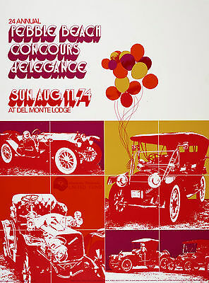 Concours d' Elegance Poster Collection - Pebble Beach - 1974-1978