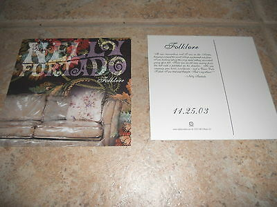 Nelly Furtado Folklore CD LP Rare 2003 Promo 5x5 Card Postcard