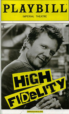 High Fidelity Broadway Opening Night  Playbill - Will Chase