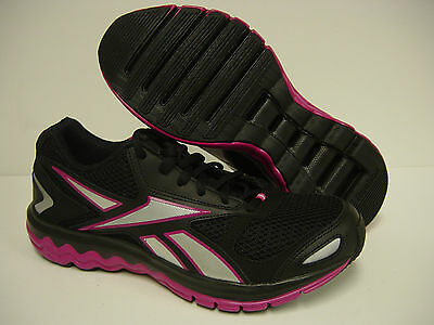 NEW Youth Girls Kids 7 Y REEBOK Fuel Extreme J90656 Black Pink Sneakers  Shoes ef16dfe189430