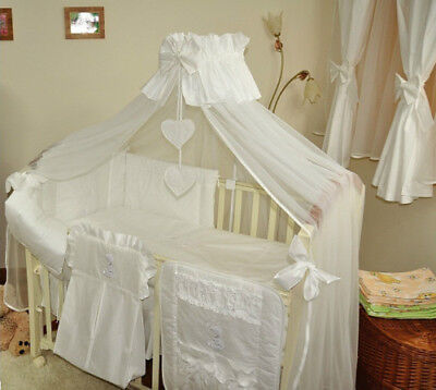 STUNNING BABY COT/BED CANOPY  DRAPE/ MOSQUITO NET -BIG 485cm WIDTH white