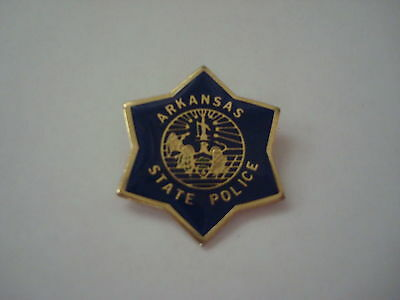 ARKANSAS State Police mini patch HAT PIN