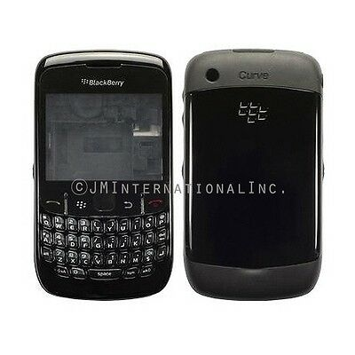 Blackberry 8520 & 8530 Curve Full Housing Black Case Cover Replacement Part
