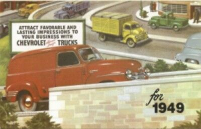 CHEVROLET 1949 Truck Sales Brochure 49 Chevy Pick Up