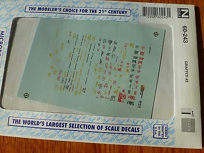 Microscale Decal N  #60-243 Grafitti-Freight Car & Structures