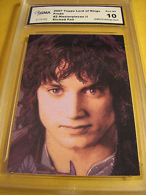 Frodo 2007 Topps Lord Of The Rings Masterpieces Ii Etched Foil 2 Of 6 Graded 10