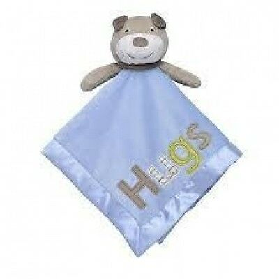 Carter's Blue Tan Hugs Puppy Dog Cuddle Lovey Security Blanket NWT