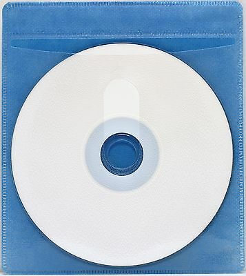 1000 Generic CD/DVD Double-sided Refill Plastic Sleeve Blue (NH)