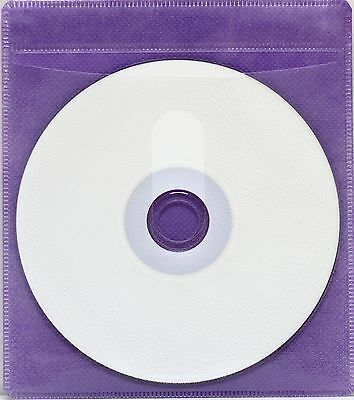 200 Generic CD/DVD Double-sided Refill Plastic Sleeve Purple (NH)