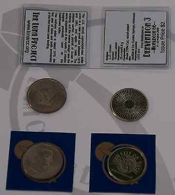 Luna Project medalet Anthony dollar set coin token moon space settlement colony