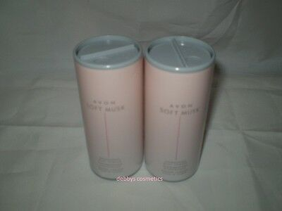 Avon Soft Musk Shimmering Body Powder 40g x 2