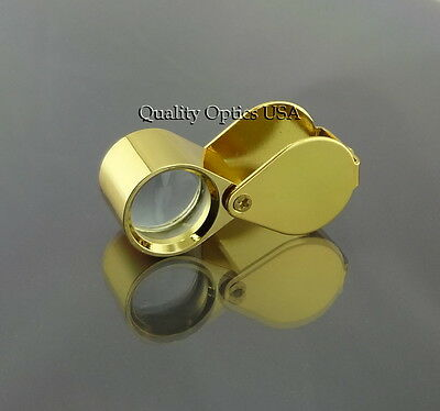 Gold Jewelers Eye Loupe Magnifier Lens Loop Glass Watch Repair Coin Blemished