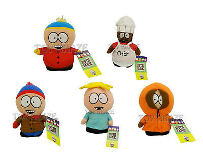 "South Park 5 Pc Plush Set! Butters Stan Kenny Cartman Chef Small Doll 6""-7"" Nwt"
