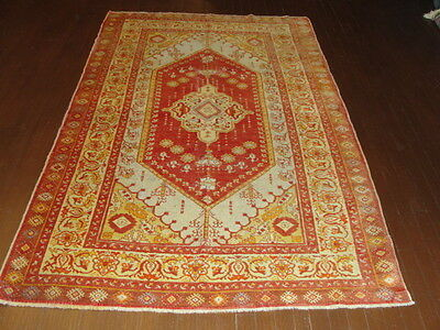 Stunning antique Anatolian Turkish hand made Oriental Rug, 4-3 x 7-2, #15622