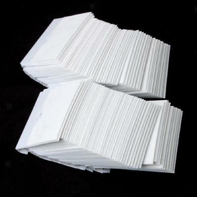 """100pcs White Velvet Ear Studs Earring Jewelry Display Hanging Hang Cards 2"""" x 2"""""""