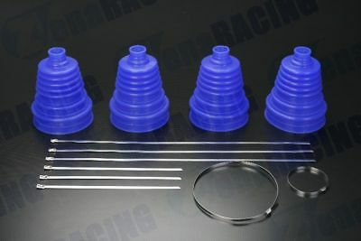 4pcs Universal Silicone Constant Velocity CV Boot Joint Kit Replacement - BLUE
