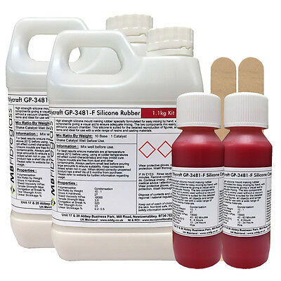 Polycraft GP-3481-F RTV Silicone Mould Making Rubber 2.2Kg Kit (Red Catalyst)