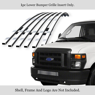 Fits 2008-2013 Ford Econoline Van/E-Series Bumper Billet Grille Grill Insert