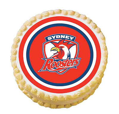 40293 Sydney Roosters Nrl Team Edible Image Cake Topper Birthday Party