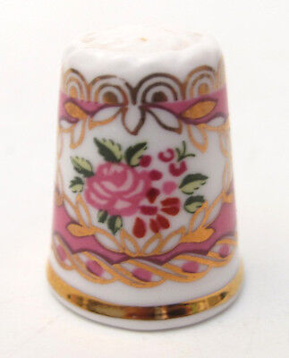 HAMMERSLEY ENGLAND ROSE CAMEO BONE CHINA THIMBLE FOR FRANKLIN MINT 1980s WGPH