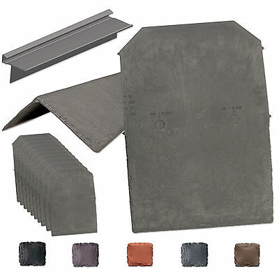 Tapco Synthetic Slate Shingle Tile - Lightweight Strong Plastic Roofing Tiles