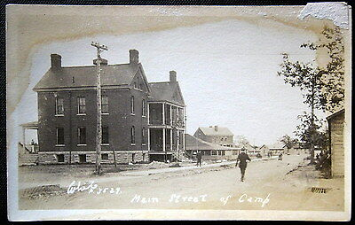**1900's MILITARY ARMY CAMP ~ MAIN STREET ~ POST EXCHANGE ~ Real Photo PC  RPPC