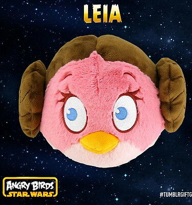 """NEW ANGRY BIRDS STAR WARS 5"""" PLUSH SOFT TOY LEIA doll kids children gift toy"""