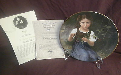 """THE BEAUTY OF BOUGUEREAU """"LUCIE"""" First Edition Collectible Plate"""