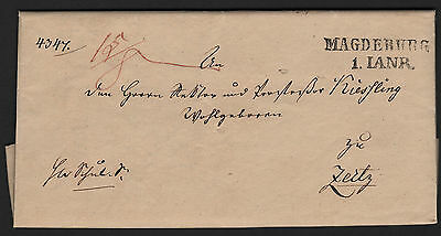 "Brief mit Langstempel ""Magdeburg"" 1. Januar 1831"