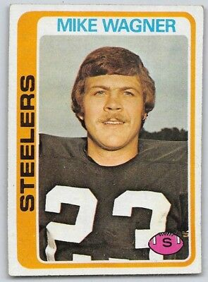 d87a315f2f6 1978 TOPPS # 275 Mike Wagner Pittsburgh Steelers EX+ additional ship ...