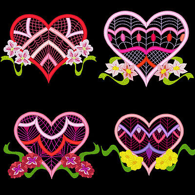 Lacy Sweethearts - 20 Machine Embroidery Designs (Azeb)