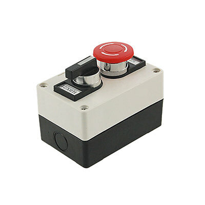 Rotary Selector Red Mushroom Emergency Stop Switch Push Button Station