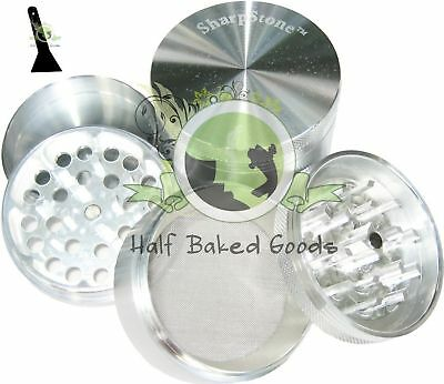 "Sharpstone 2.2"" Silver 4 PC MEDIUM Herb Tobacco Grinder"