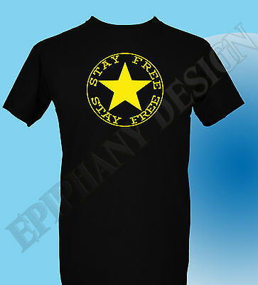 The Clash Inspired T-Shirt  Punk Joe Strummer Stay Free Sex Pistols Anarchy 70's