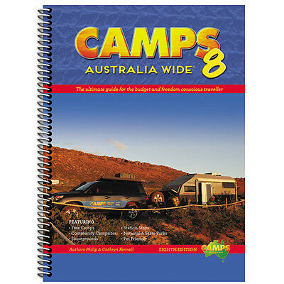Camps Australia Wide (Edition 8) Camping Guide Book A4 Spiral Bound