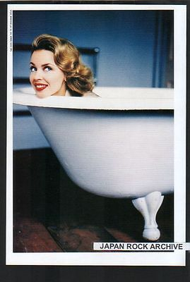 1995 Kylie Minogue in bath JAPAN mag photo pinup picture / mini poster BEAUTIFUL
