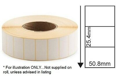 WHITE 50 x 25mm Direct Thermal Labels 2,000 on 25mm core - Zebra Citizen printer